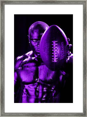 Purple Challenge Framed Print by Val Black Russian Tourchin