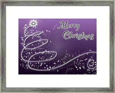Purple Christmas Card Framed Print by Lisa Knechtel