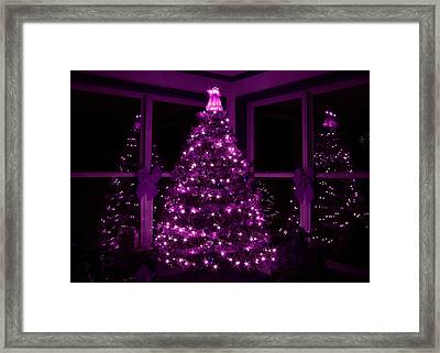 Purple Christmas Framed Print by Lori Deiter