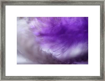 Purple Cloud. Angel Series Framed Print