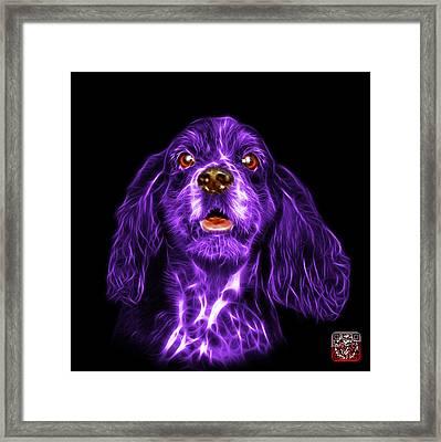 Purple Cocker Spaniel Pop Art - 8249 - Bb Framed Print