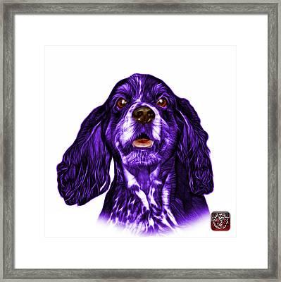 Purple Cocker Spaniel Pop Art - 8249 - Wb Framed Print
