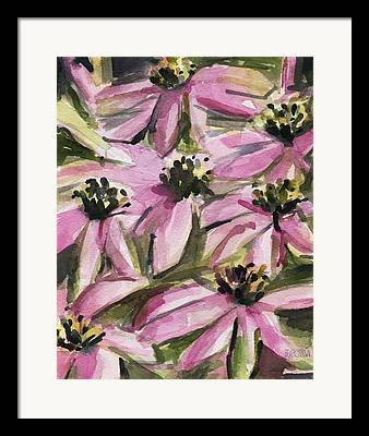 Abstracted Coneflowers Framed Prints
