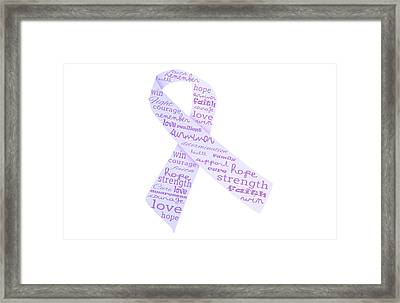Purple Courage Framed Print by Pamela Williams