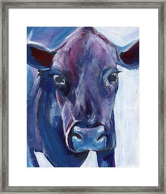 Purple Cow Framed Print by Anne Seay
