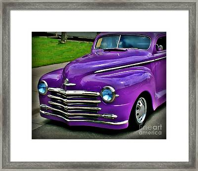 Purple Cruise Framed Print by Perry Webster