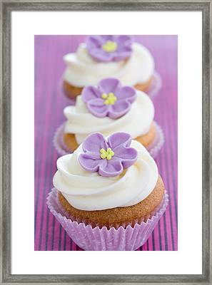 Purple Cupcakes Framed Print