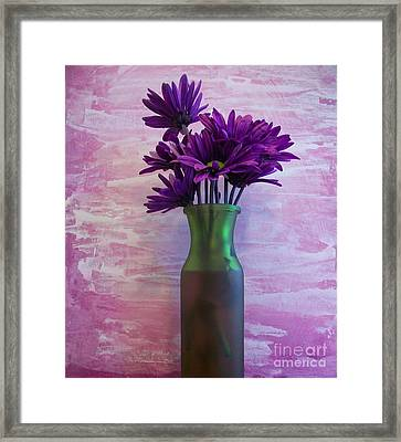 Purple Daisy Bouquet Framed Print