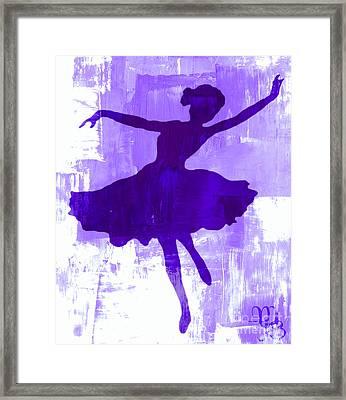 Purple Dancer Framed Print by Mindy Bench
