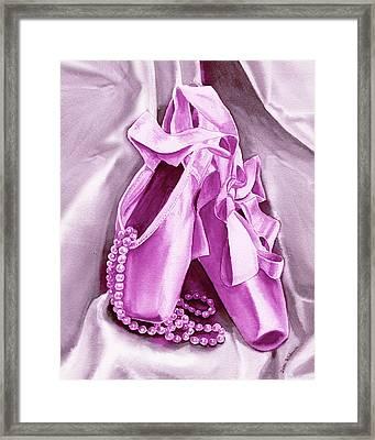 Purple Dancing Shoes Framed Print