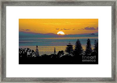 Purple Dawn Framed Print by Karen Lewis
