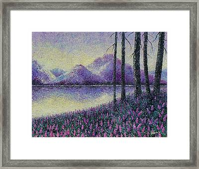 Framed Print featuring the painting Purple Daze by Susan DeLain