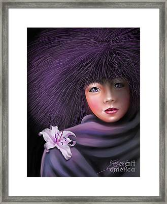 Framed Print featuring the painting Purple Delight by S G