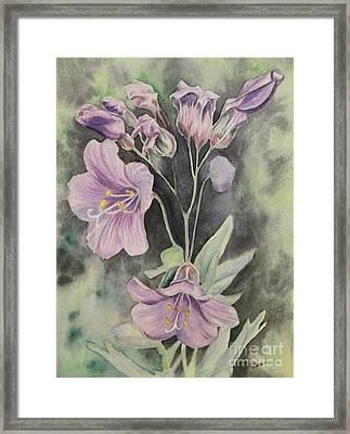 Purple Delight Wildflowers Framed Print
