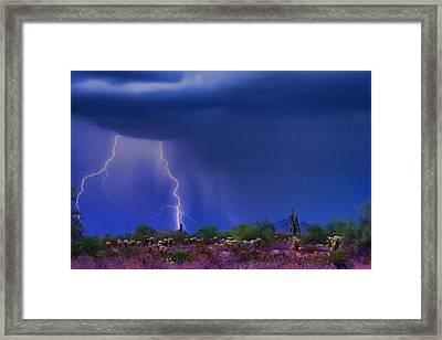 Purple Desert Storm Framed Print by James BO  Insogna