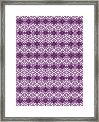 Framed Print featuring the digital art Purple Diamonds by Elizabeth Lock