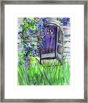 Purple Doorway Framed Print
