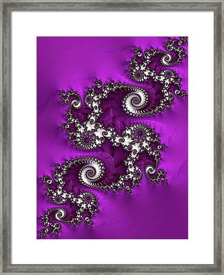 Purple Dragon Framed Print