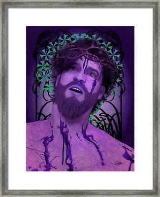 Purple Ecce Homo Framed Print by Joaquin Abella