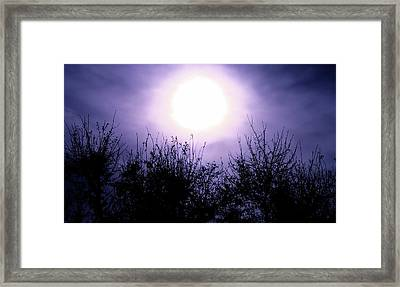 Purple Eclipse Framed Print