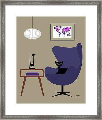 Purple Egg Chair Framed Print