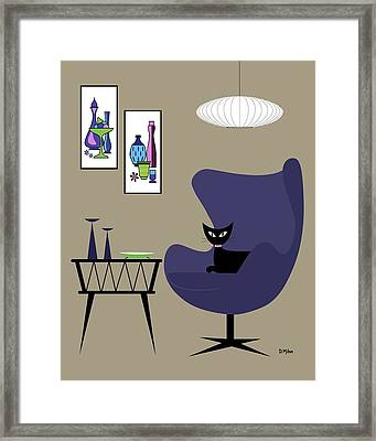 Purple Egg Chair With Gravel Art Framed Print