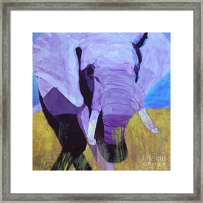 Purple Elephant Framed Print