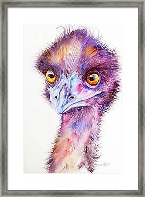 Purple Emu Framed Print