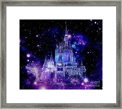 Purple Blue Enchanted Castle Framed Print