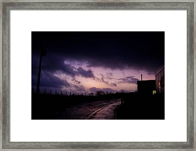 Purple Evening Framed Print