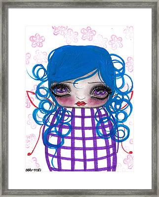 Purple Fairy Framed Print by  Abril Andrade Griffith