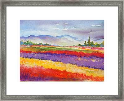 Purple Fields Framed Print