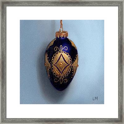 Purple Filigree Egg Ornament Framed Print