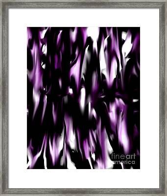 Purple Flame Framed Print by Lynn Reid