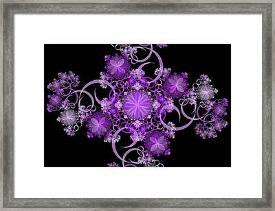 Framed Print featuring the photograph Purple Floral Celebration by Sandy Keeton