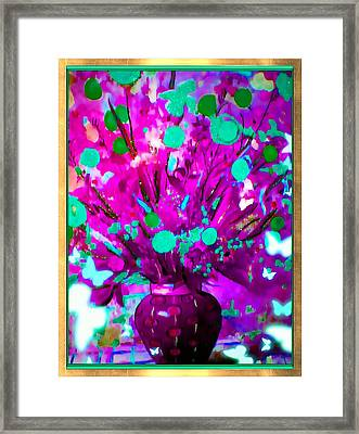 Purple Floral Framed Print by HollyWood Creation By linda zanini