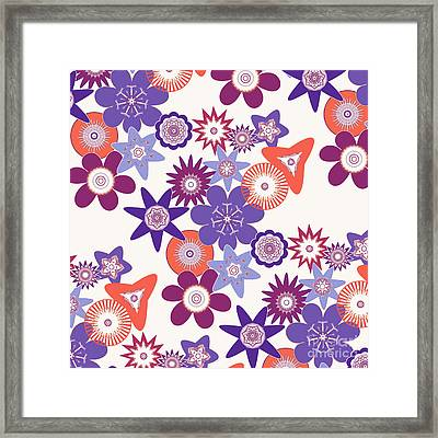 Purple Flower Fantasy Framed Print by Methune Hively