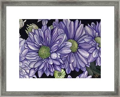 Purple Flowers Framed Print by Patty Vicknair