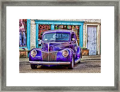 Purple Ford Deluxe Framed Print by Carol Leigh