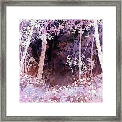 Purple Forest Framed Print by Hailey E Herrera