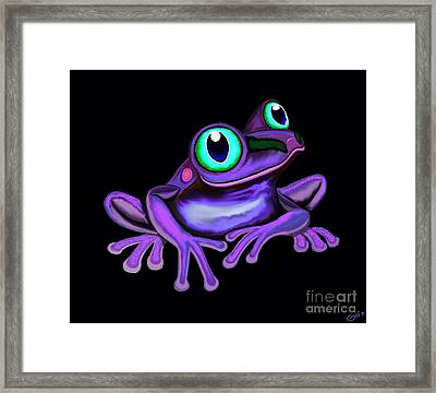 Framed Print featuring the painting Purple Frog  by Nick Gustafson