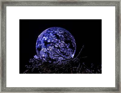 Purple Frozen Bubble Art Framed Print
