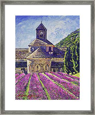Purple Gardens Provence Framed Print by David Lloyd Glover
