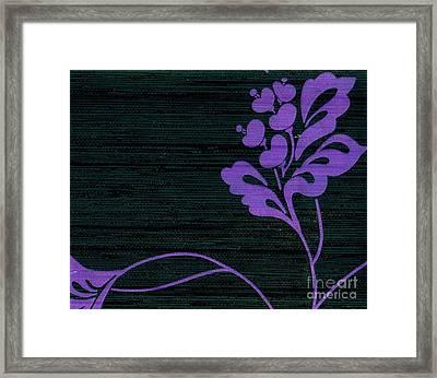 Purple Glamour On Black Weave Framed Print