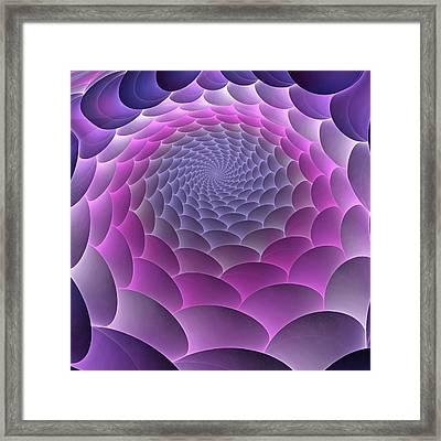 Purple Gradient Framed Print by Anastasiya Malakhova