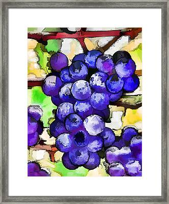 Purple Grapes Framed Print by Lanjee Chee