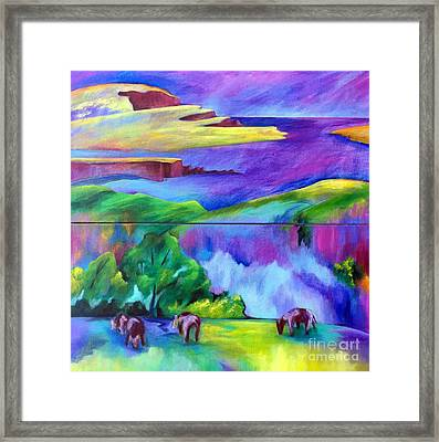 Purple Graze Framed Print