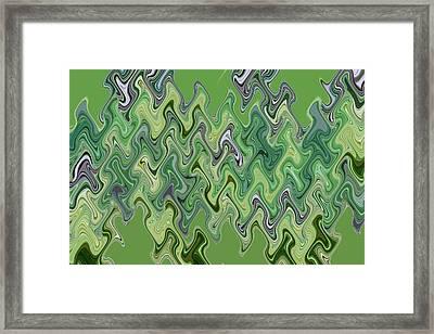 Purple Green Smoke Swirl Framed Print by Joshua Sunday