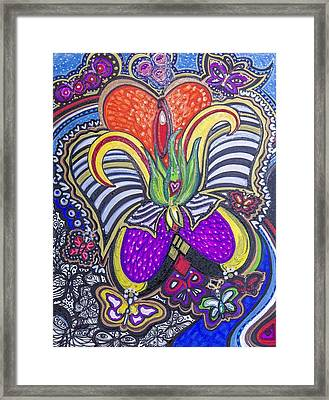 Purple Growth Framed Print