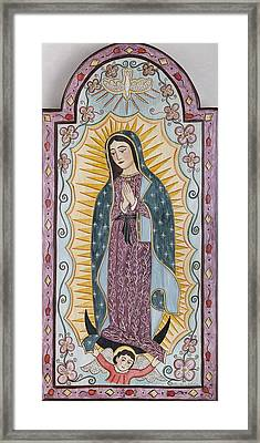 Purple Guadalupe Framed Print by Ellen Chavez de Leitner